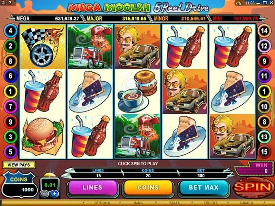 mega jacks slots machines for free