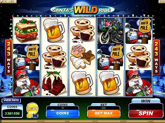 Santa's Wild Ride Video Slot