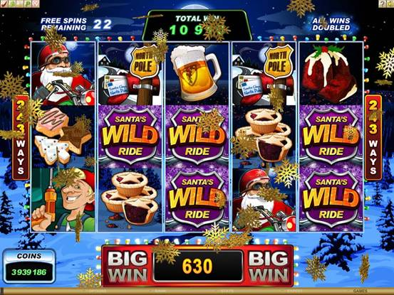 Santa�s Wild Ride Slot Machine