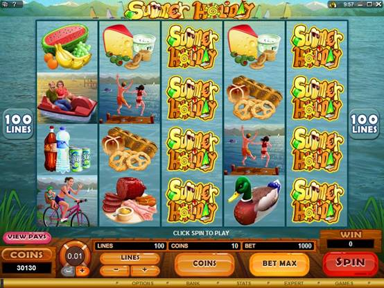 Summer Holiday Video Slot Free Spin Feature